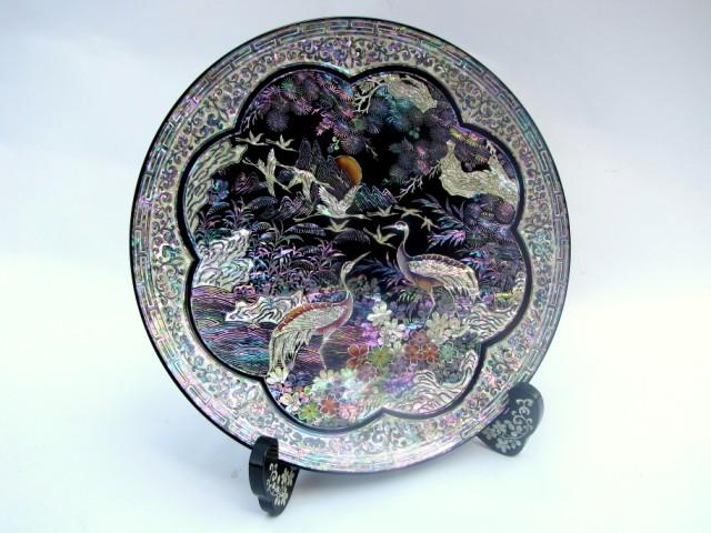 Тарелка перламутровая Сказочная ромашка