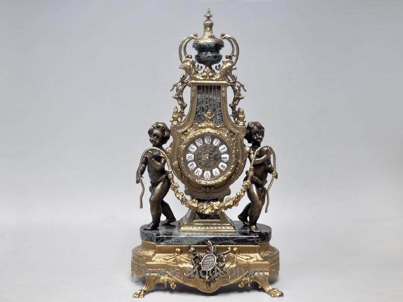 Часы каминные Джульетта,черный мрамор, Lancini