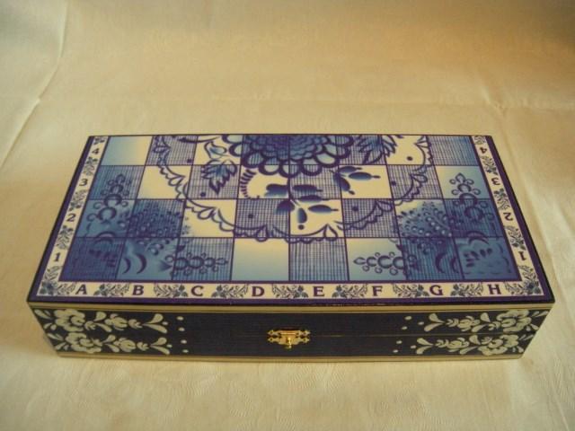 Шахматы сувенирные Гжель