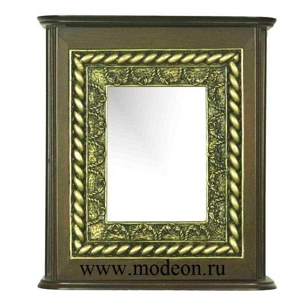 Ключница настенная Квадратное зеркало