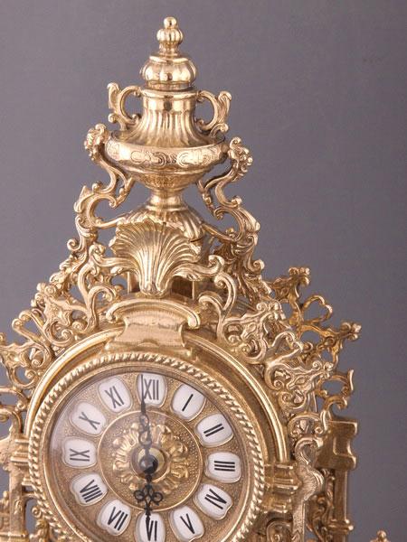 Часы каминные с подсвечником Новое время