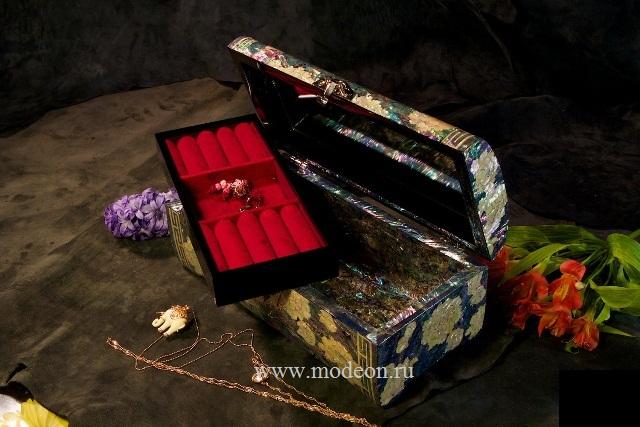 Перламутровая шкатулка Цветочный сад, малая
