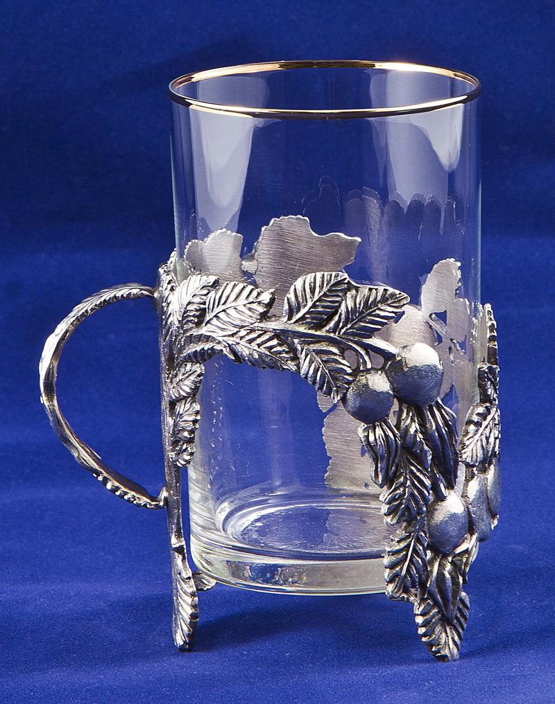 Набор для чая с френч-прессом Шиповник, серебро