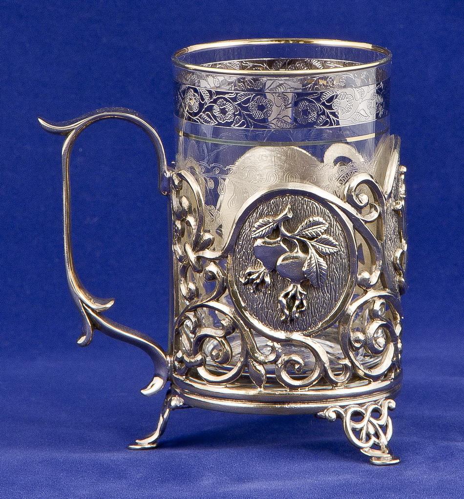 Набор для чая с френч-прессом Чаепитие, латунь