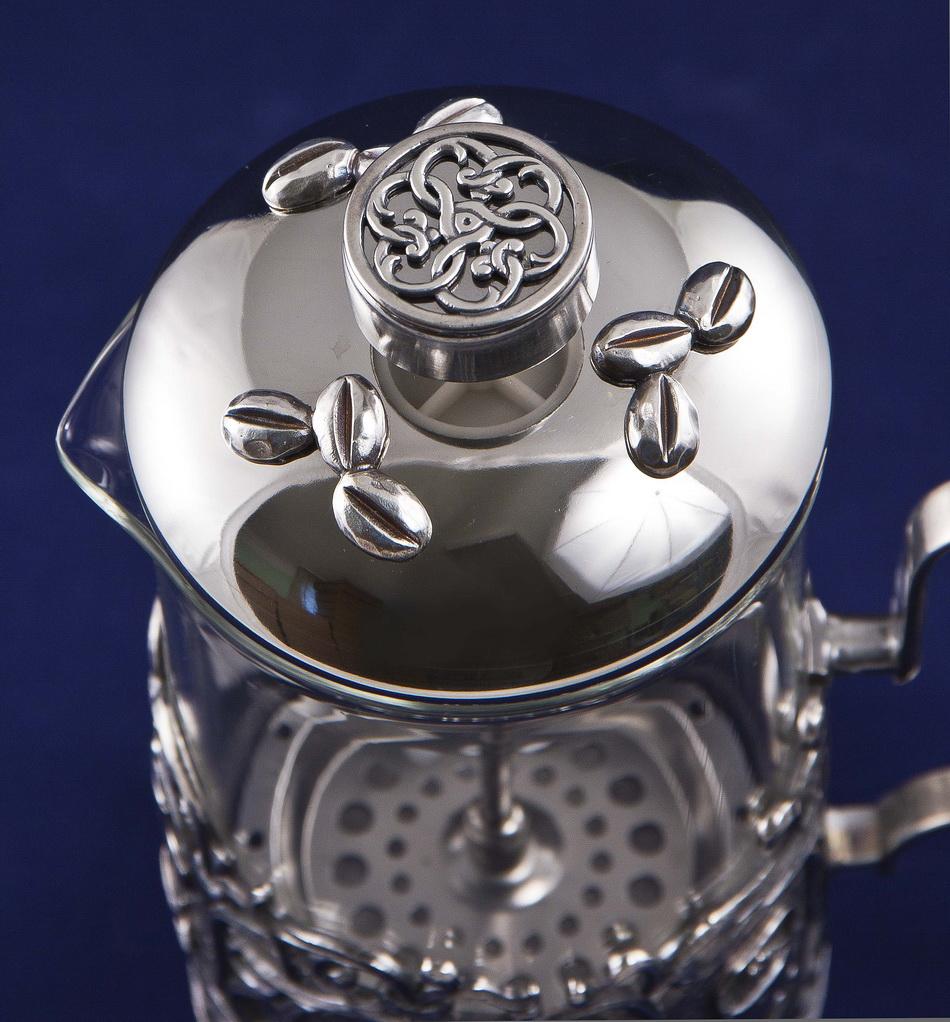 Френч-пресс Кофе, серебро