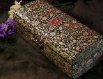 Перламутровая шкатулка Цветы и бабочки.