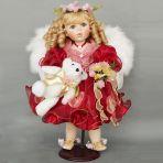 Кукла фарфоровая Ангел в красном, 51см.