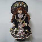 Фарфоровая кукла Матильда, 61см.