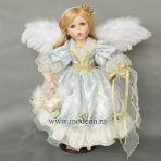 Фарфоровая кукла Ангел с сердцем, 58см.
