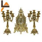 Часы каминные Барокко-2 и канделябры, золото.