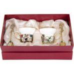 Фарфоровая чайная пара в картонном футляре Колокольчики и Ирисы.