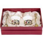 Фарфоровая чайная пара в картонном футляре Колокольчики.