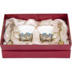 Фарфоровая чайная пара в картонном футляре Незабудки.