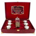 Чайный сервиз с френч-прессом в шкатулке Ирисы для Истинной женщины.