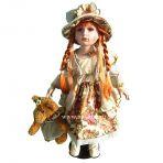 Фарфоровая кукла Вероника, 66см.