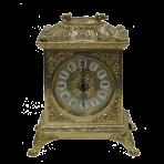 Часы каминные антикварные Ларец, золото.