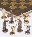 Шахматы металлические Олимпийские Игры, р.36 коричневые.