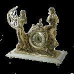 Часы из бронзы на мраморной подставке Музыканты.