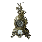 Часы каминные бронзовые Дон Жуан, антик.