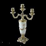 Канделябр с керамикой и бронзой Триумфатор.