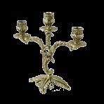 Канделябр 3-х рожковый Флор, золото.