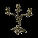 Канделябр 3-х рожковый Флор, антик.
