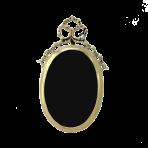 Фоторамка овальная из бронзы Лиза.