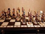 Шахматы керамические Римляне и турки.