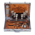 Набор для пикника Классик в металлическом кейсе.