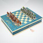 Шахматы-книжка 1000-летие Казани,синие, Giglio.