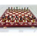 Шахматы Кутузов и Наполеон , выжег.